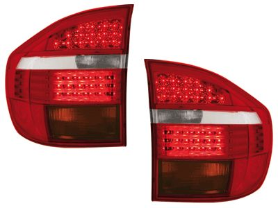 ΠΙΣΩ ΦΑΝΑΡΙΑ BMW X5 E53 06 2PIECES RED CRYSTAL  Carner