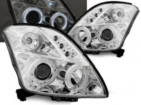 Φανάρια Suzuki Swift Angel Eyes Chrome 05.05-10  Carner