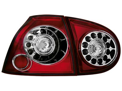 LED ΠΙΣΩ ΦΑΝΑΡΙΑ VW GOLF V 03 09 RED CRYSTAL  Carner