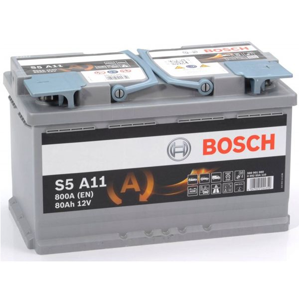 Μπαταρία BOSCH S5 AGM START/STOP S5A11 80AH 800EN  Marinos Battery